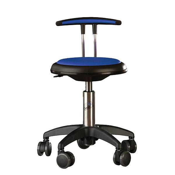 Obrotowe krzesło Genito z oparciem w kolorze niebieskim