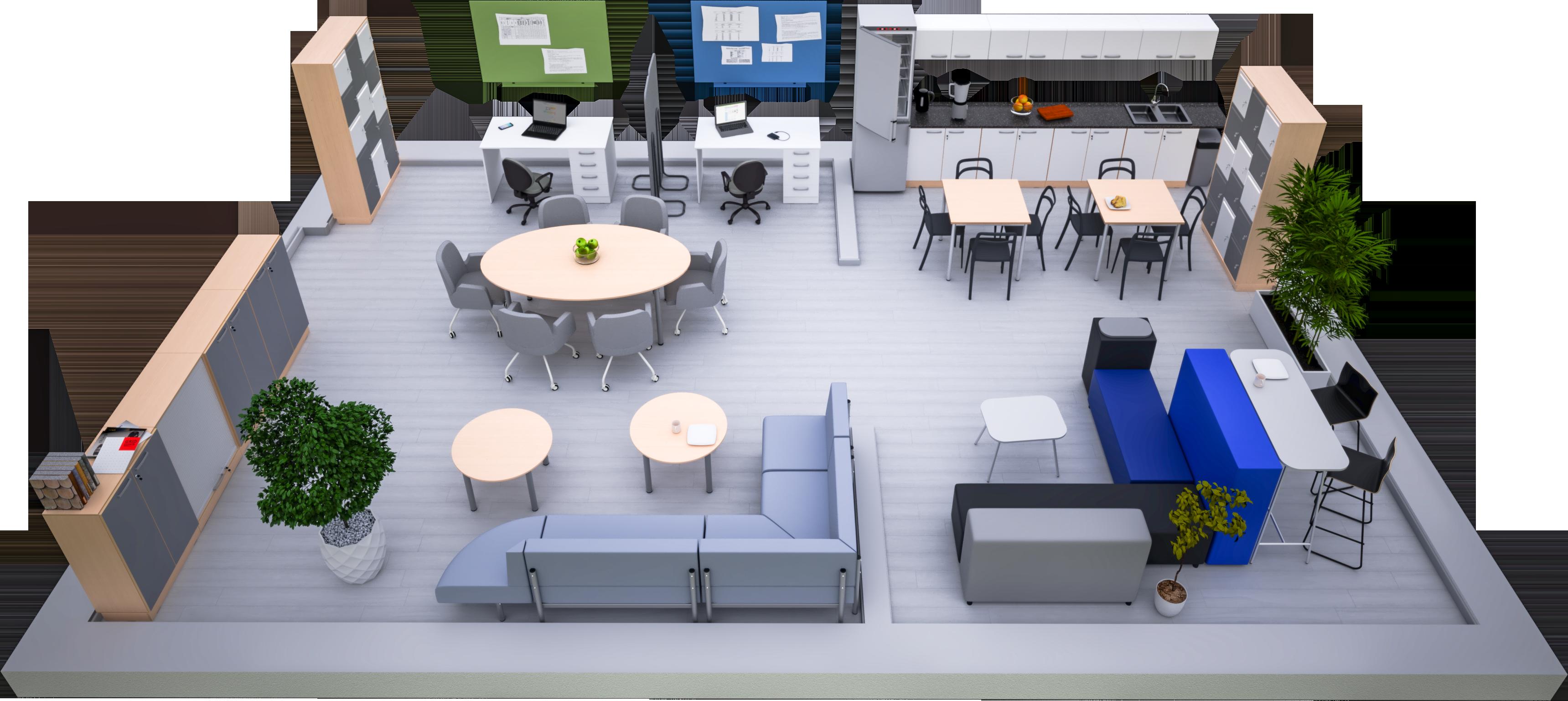 Gabinety i pomieszczenia administracyjne wyposażone w meble Grande