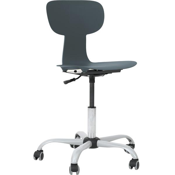 Obrotowe krzesło ergo na kółkach do pracowni komputerowej Grande