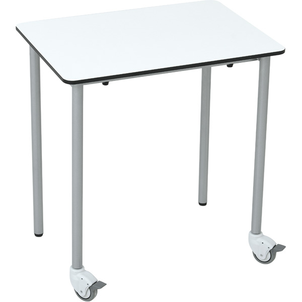 Mobilny stół prostokątny do pracowni komputerowej Grande