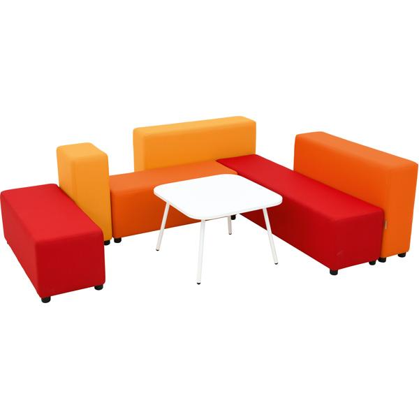 Siedziska blocco mini o geometrycznych kształtach