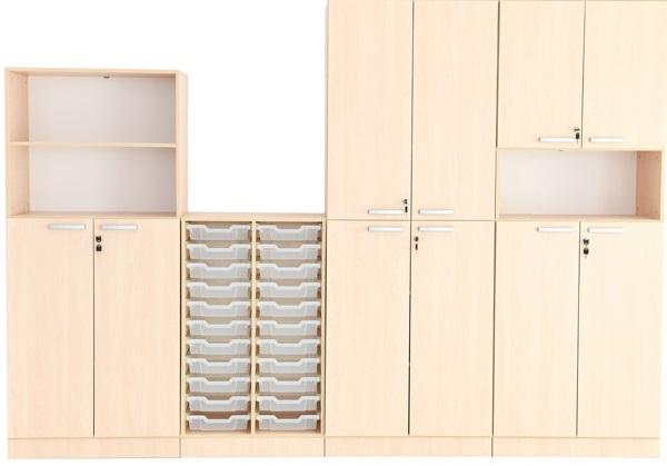 Zestaw meblowy Grande 2 z pojemnikami i szafkami zamykanymi na kluczyk