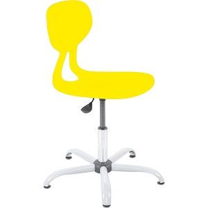 Krzesło Colores obrotowe z regulacją wysokości w kolorze żółtym do pracowni przyrodniczych