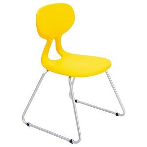 Krzesło Colores plus w kolorze żółtym do szkół i pracowni