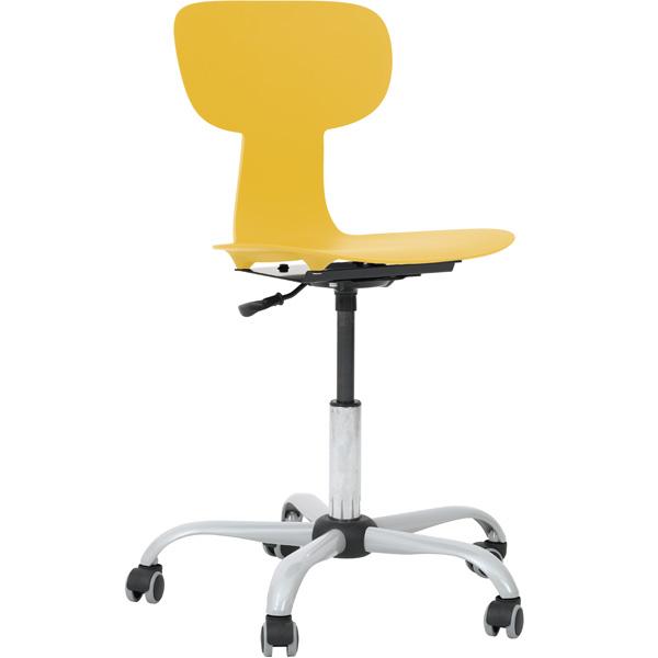 Krzesło Ergo obrotowe na kółkach do szkół podstawowych i pracowni przyrodniczych