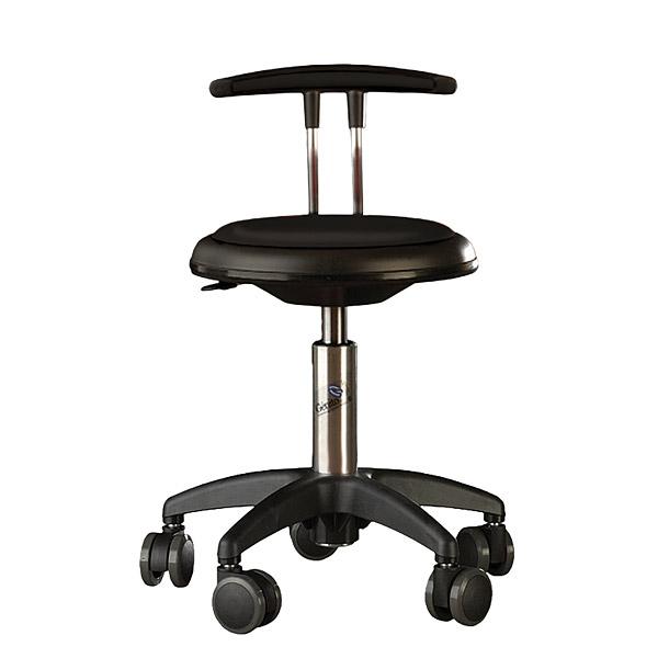 Krzesło Genito wyposażone w kółka do pracowni przyrodniczych