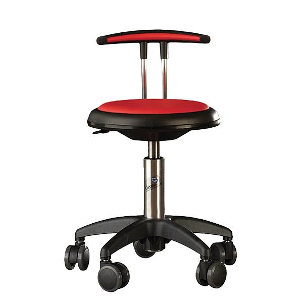 Krzesło Genito z oparciem do pracowni przedmiotowych