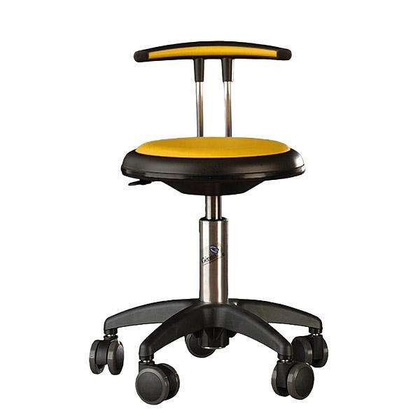 Mobilne krzesło Genito z oparciem do pracowni szkolnych