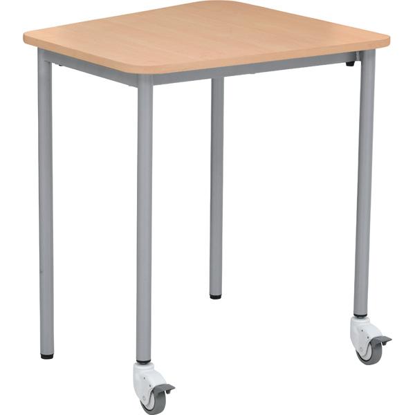 Mobilny stół lektor w kolorze klonowym
