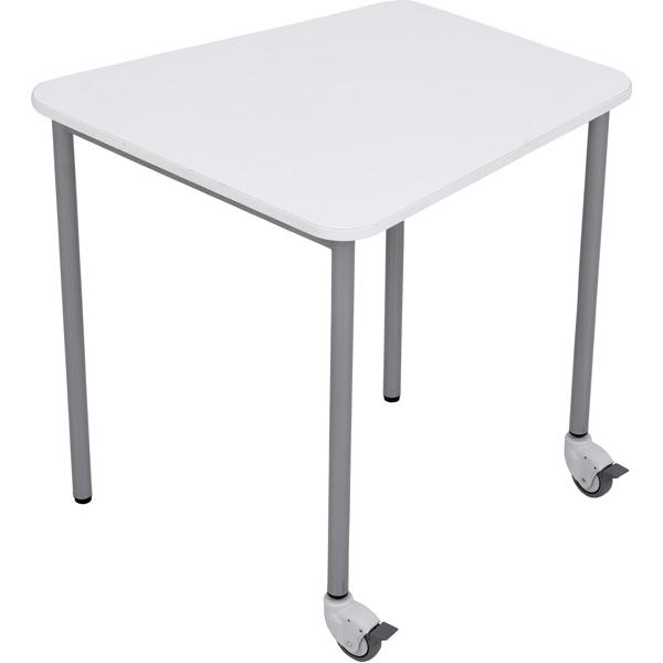 Mobilny stół lektor w kolorze białym